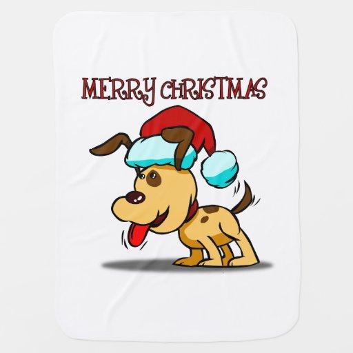 Merry Christmas Dog Baby Blanket