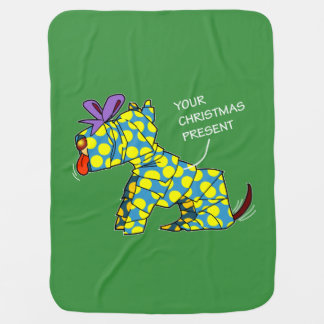 Merry Christmas Dog Wrap Baby Blanket