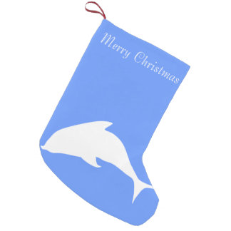 Merry Christmas Dolphin Small Christmas Stocking