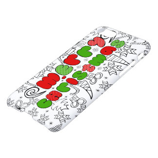 Merry Christmas doodle design iPhone 8/7 Case