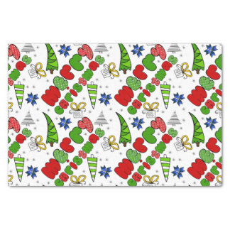 """Merry Christmas"" doodle kid's drawning style Tissue Paper"