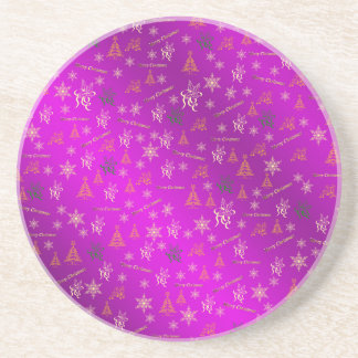 merry christmas drink coasters