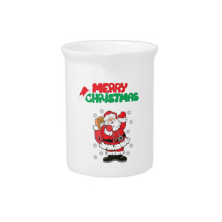 Merry Christmas Drink Pitchers