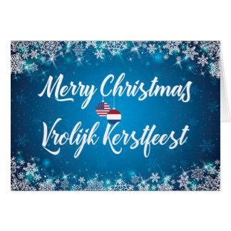 Merry Christmas Dutch American Bilingual Card