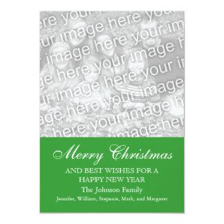 Merry Christmas Easy Holiday Custom Photo Template 13 Cm X 18 Cm Invitation Card