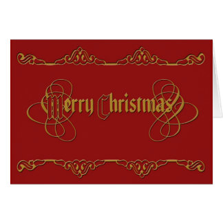 merry christmas elegant greeting card
