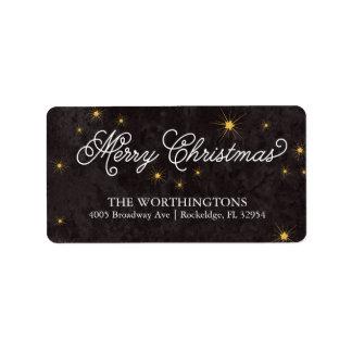 Merry Christmas Elegant Script Holiday Labels