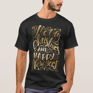Merry Christmas Elegant Typography T-Shirt