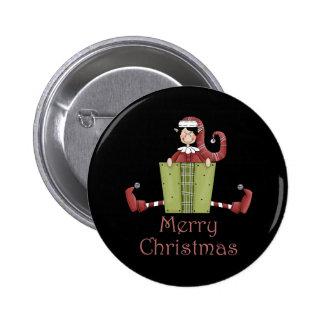Merry Christmas Elf Buttons