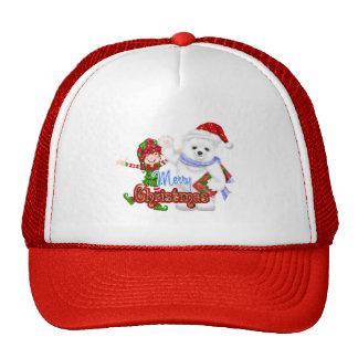 Merry Christmas Elf Bear Hat