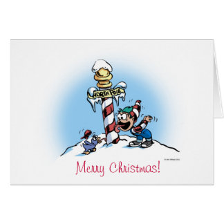 merry christmas elf greeting card