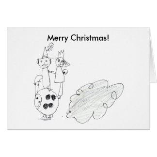 Merry Christmas! Elf & Fairy Greeting Card