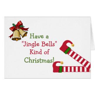 Merry Christmas Elf Greeting Card
