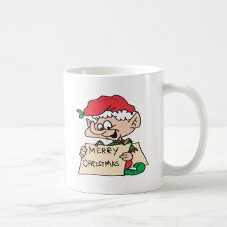 Merry Christmas Elf Coffee Mugs
