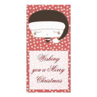 merry christmas elf photo greeting card