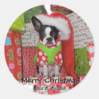 Merry Christmas Elf Stickers