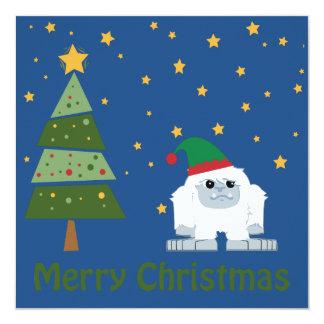 Merry Christmas! Elf Yeti Christmas scene 13 Cm X 13 Cm Square Invitation Card