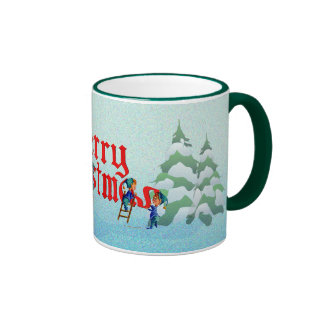 MERRY CHRISTMAS ELVES from original watercolors by Mugs