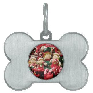 Merry Christmas Elves Pet ID Tag