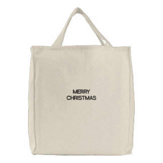Merry Christmas Embroidered Bags