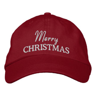 Merry Christmas Embroidered Baseball Cap/Hat Embroidered Hats