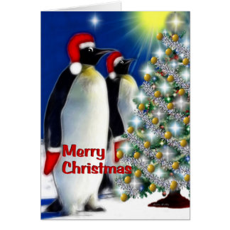 Merry Christmas - Emperor Penguins Card