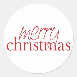 Merry Christmas Envelope Enclosure Stickers