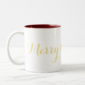Merry Christmas Eve Faux Gold Coffee Milk Tea Mug