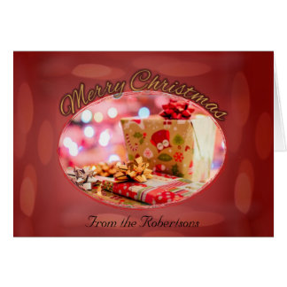 Merry Christmas Faded Lights Card