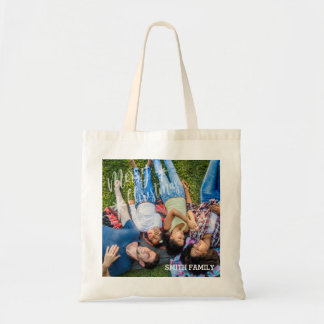 Merry Christmas Family Portrait Tote Bag