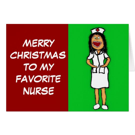 Merry Christmas Favourite Nurse Card