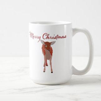 Merry Christmas Fawn Mug