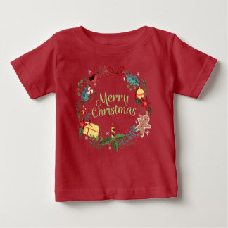 Merry Christmas Festive Holiday Xmas Kids Tee