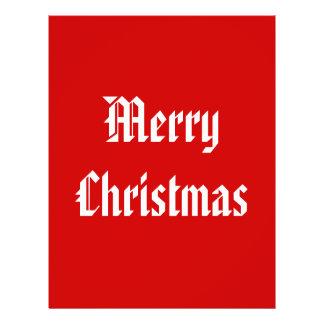 Merry Christmas. Festive Red and White. Custom Flyer Design
