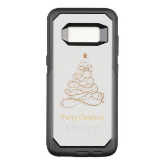 """Merry Christmas"" Filigree Swirls Christmas Tree OtterBox Commuter Samsung Galaxy S8 Case"