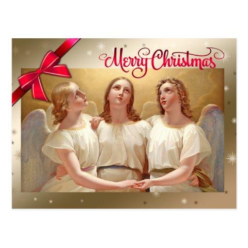 Merry Christmas. Fine Art Christmas Cards Postcard