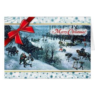 Merry Christmas. Fine Art Christmas Greeting Card