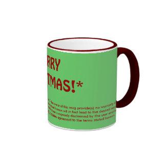 MERRY CHRISTMAS!* (fine print) Mugs