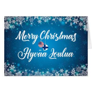 Merry Christmas Finnish Card, Hyvää Joulua Card