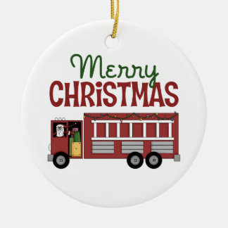 Merry Christmas Firefighter Ornament
