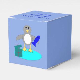 Merry Christmas Fishing Penguin Custom Favor Box