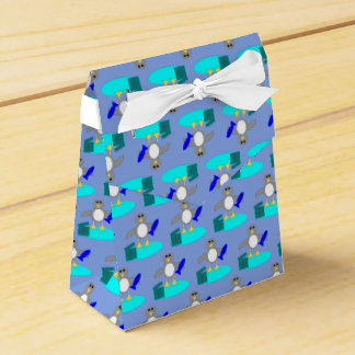 Merry Christmas Fishing Penguin Favor Box