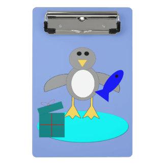 Merry Christmas Fishing Penguin Mini Clipboard