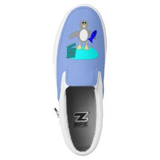Merry Christmas Fishing Penguin Slip On Shoes