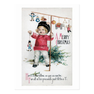 """Merry Christmas - Fit to a """"T"""" Postcard"""