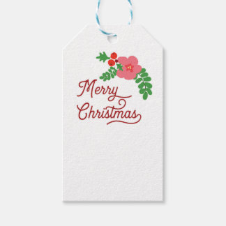 Merry Christmas Flora Gift tags