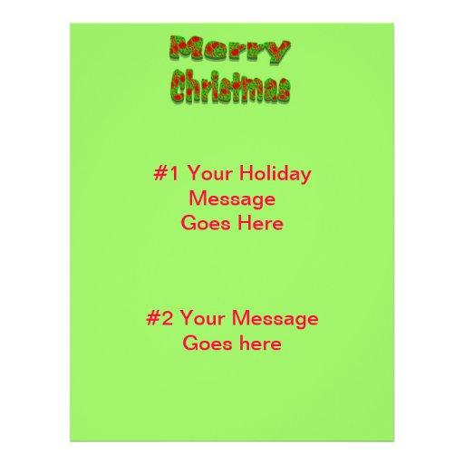 Merry Christmas Flyer Design