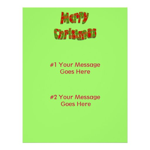 Merry Christmas Personalized Flyer