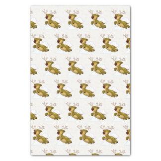 Merry Christmas Flying Reindeer Cute Tissue Paper