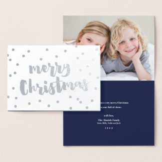 Merry Christmas Foil Holiday Greeting Card